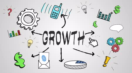 crescimento : Digital animation of growth concept on white background