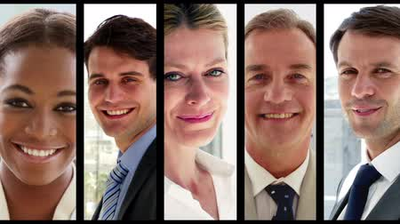 montázs : Digital montage of Business people at work
