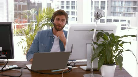 biodro : Creative businessman in a video conference in the office
