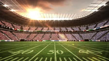 estádio : View of an american football stadium with sunny weather