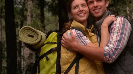 highspeed : Smiling couple on a hike in the countryside in slow motion