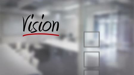vizyon : Digital animation of Businessman ticking vision checklist