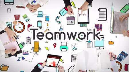 praca zespołowa : Business people hands working with teamwork in middle