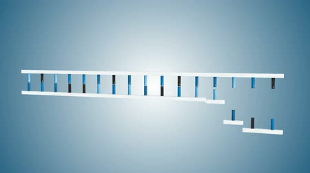 ДНК : Animation of DNA moving on a blue background