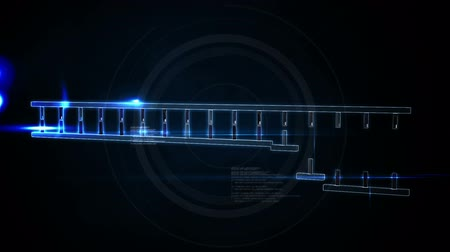 Animation of DNA moving on a black background