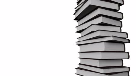 defter : Stack of books rotating