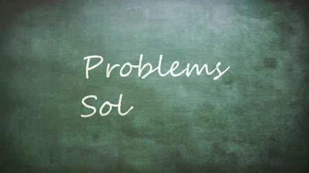 lousa : Problems and Solutions words on board background