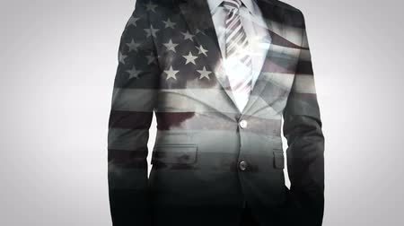 vlastenectví : Animation of businessman on US flag background
