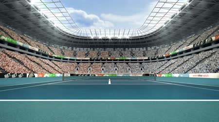 tennis stadium : View of spectators in tennis stadium