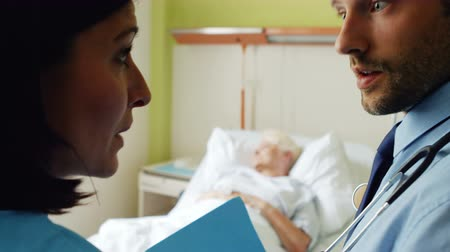 physicians : Doctor interacting with each other in hospital 4k