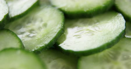 pepino : Close-up of slice cucumber Vídeos