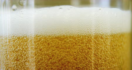 fizzing : Close up view of head of a pint for st patricks day high quality
