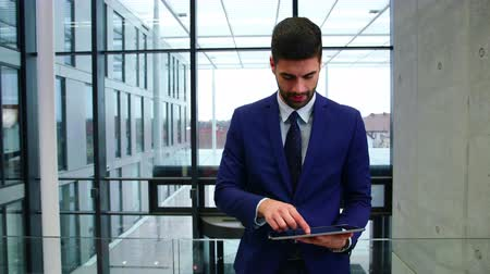 livro : Businessman using digital tablet in office