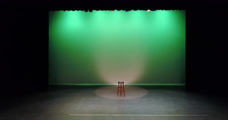 banquinho : Empty stool kept on the stage during a concert 4k Vídeos