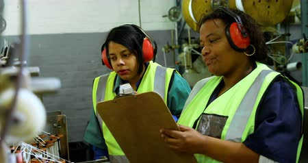 earmuffs : Female Workers working in rope making industry 4k