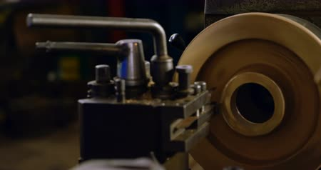 yokluk : Close-up of machine and tools in workshop 4k Stok Video