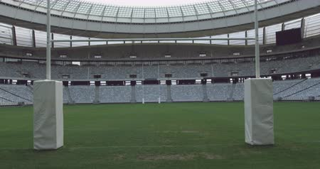 üres : Zooming shot of vast empty Shot of empty Cape Town Stadium 4k