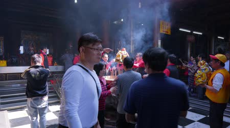 incenso : Nantou Taiwan-16 February, 2019: Taiwanese Traditional Religious Culture