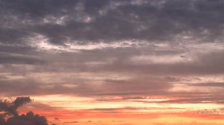 lapse : Sunset sky clouds timelapse. Stock Footage