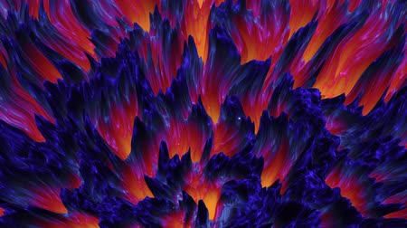 abstract colorful lava magma background, dark matter, seamless loop Stock mozgókép