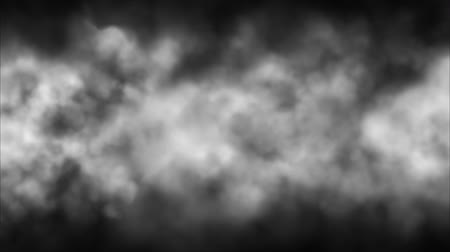 Moving smoke, the wind chases smoke, dark dynamic background fog, overlay, multiple loop Stock mozgókép