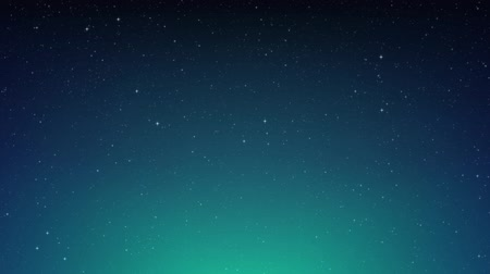 em branco : Night shining starry sky, blue sky background with flickering stars, cosmos. Animated space background. Seamless loop