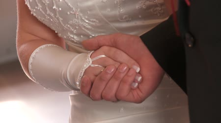 ring : hands of a wedding couple