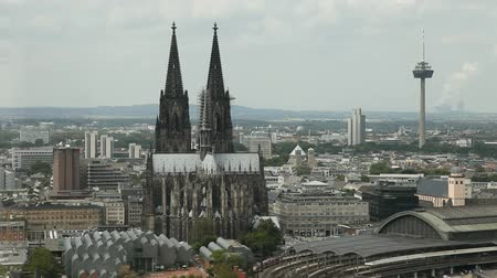 köln : Cologne Panoramic View Stock mozgókép