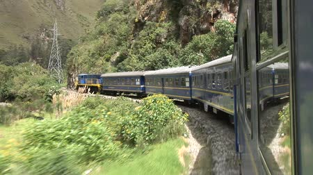 Train in forest in Peru, near Cusco