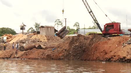 лесоматериалы : Video Footage of Timber Industry At Amazon River