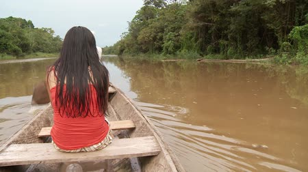 temprature : Shipping On Amazon River With Canoe, Southamerica. Peru