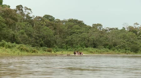 temprature : People Shipping On Amazon River With Boat, Peru. Near by Iquitos in Novembre 2011
