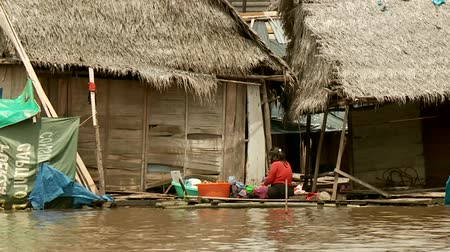 indigence : Slum City Of Belen, Iquitos at the Amazon River in Peru, South America
