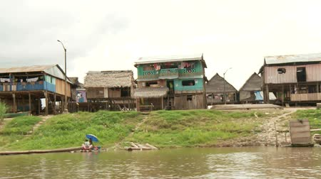 neediness : Slum City Of Belen, Iquitos at the Amazon River in Peru, South America