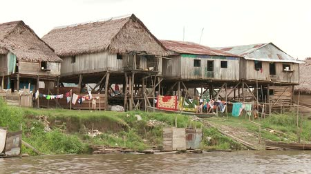 favelas : Slum City Of Belen, Iquitos at the Amazon River in Peru, South America