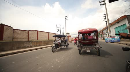 motorcar : Driving With Motortaxi On Street In Iquitos, Peru, November 2011