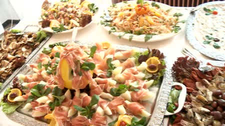 буфет : video footage of a nice buffet in restaurant