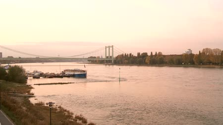 kolínská voda : video footage of cologne with the river Rhine in germany