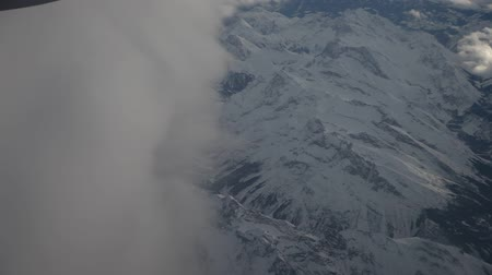 брезент : video footage of the alps from above in germany, europe