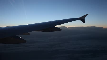 брезент : video footage of flying over clouds in the morning