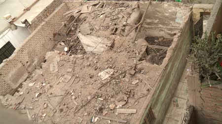 ruinous : video footage of a broken rooftop, Lima, Peru
