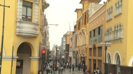 plaza de armas of lima : video footage of the Plaza de Armas in Lima, Peru Stock Footage