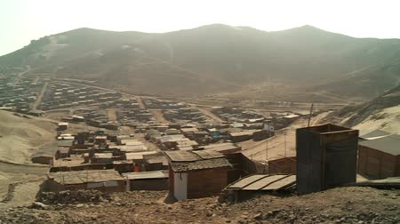 indigence : video footage of slums in the desert at the north of Lima, Peru, South America