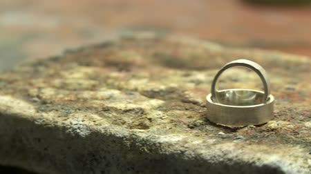ezüst : video footage of ring on a workbench of a Jewelry Stock mozgókép