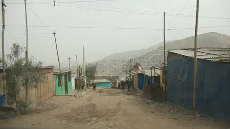neediness : video footage of a onboard camera in Slums in Lima, Peru Stock Footage