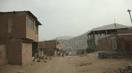 indigence : video footage of a onboard camera in Slums in Lima, Peru Stock Footage
