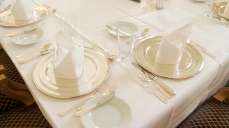 setting : video footage of a Table Setting