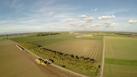 termés : aerial video footage of a agriculture region in germany Stock mozgókép
