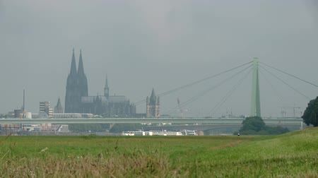 kolínská voda : video footage of the city of cologne in germany