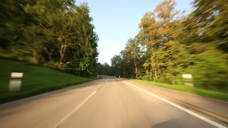 napfény : Video footage of Driving on the Swabian Alb in Germany in the morning